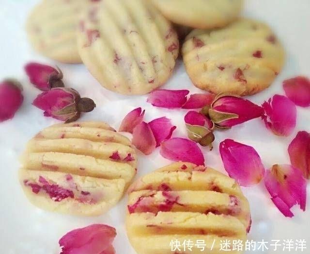 家里 家里能做的有玫瑰香味的饼干很好吃